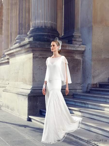 Mariage en hiver : Robe de mariée Baudelaire par Pronuptia