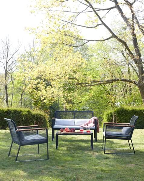 Salon de jardin noir
