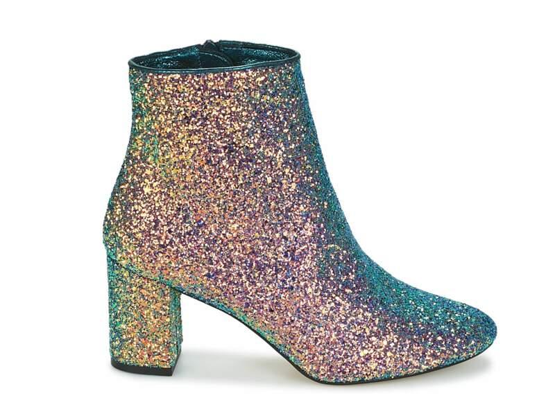 Chaussures de soirée : les bottines glitter
