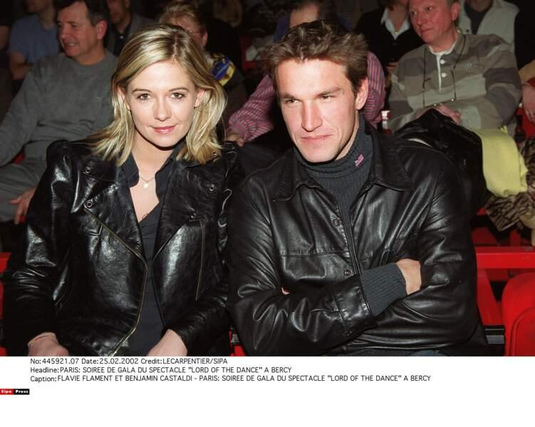 Benjamin Castaldi et son ex-femme Flavie Flament : 2002