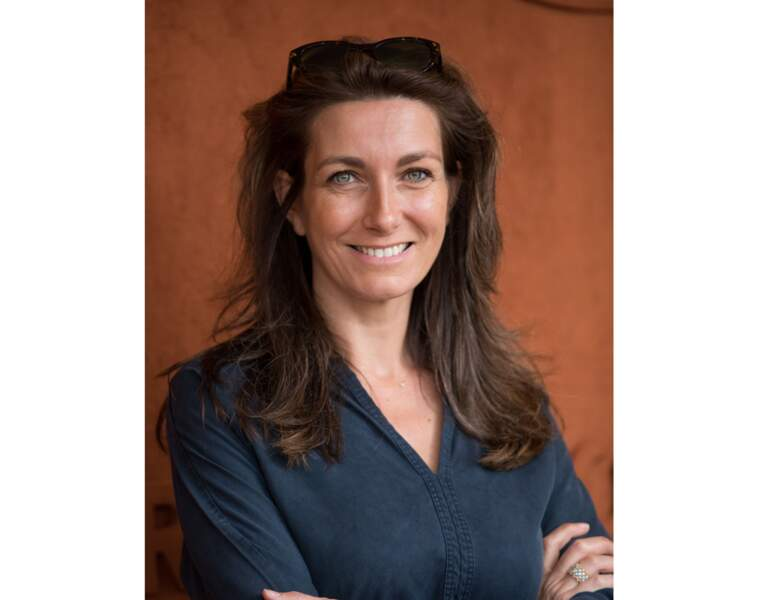Elle a 42 ans et est photographiée à Roland Garros en 2019