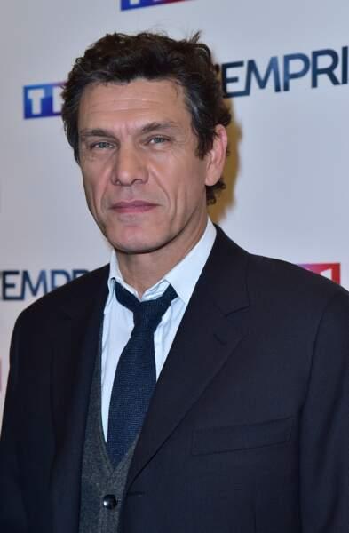 """Marc Lavoine à la projection du téléfilm """"L'emprise"""" dans lequel il joue, à Paris, le 21 janvier 2015."""