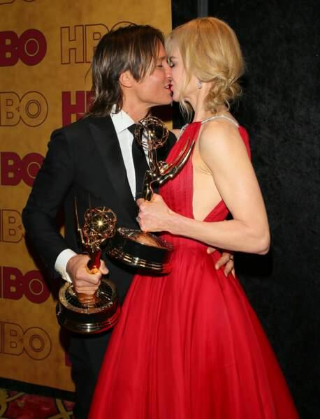 Nicole Kidman et Keith Urban à la soirée HBO suite aux Emmy Awards le 17 septembre 2017 à Los Angeles.