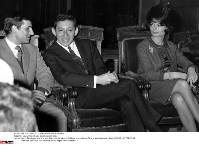 Serge Gainsbourg et Francoise Antoinette Galitzine
