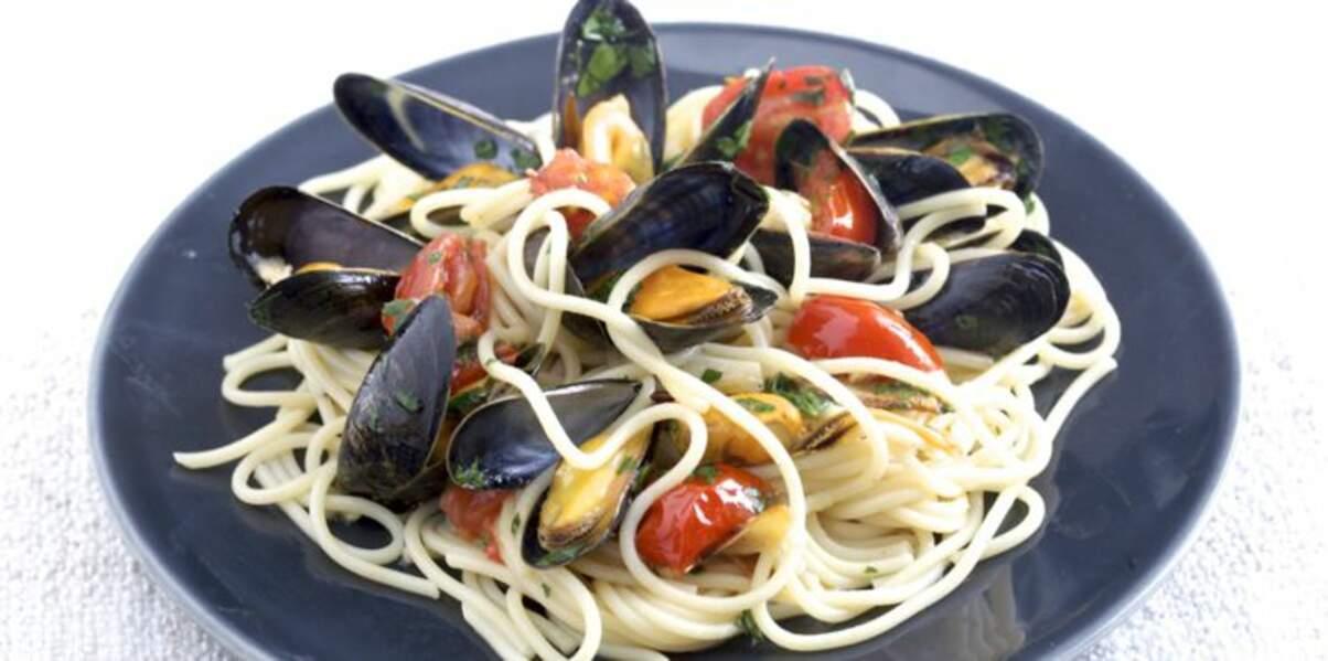 Spaghettis aux moules de bouchot de la Baie du Mont-Saint-Michel façon alle vongole