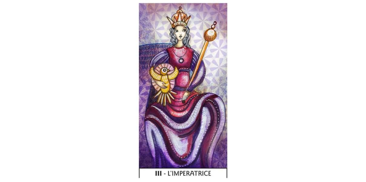 Lame 3 du Tarot des Mages : L'Impératrice