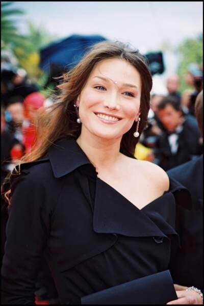 Carla Bruni au Festival de Cannes en 2000