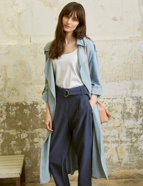 Le trench pastel