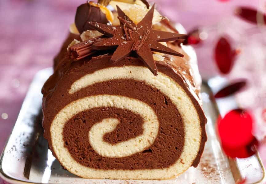 La bûche chocolat gingembre