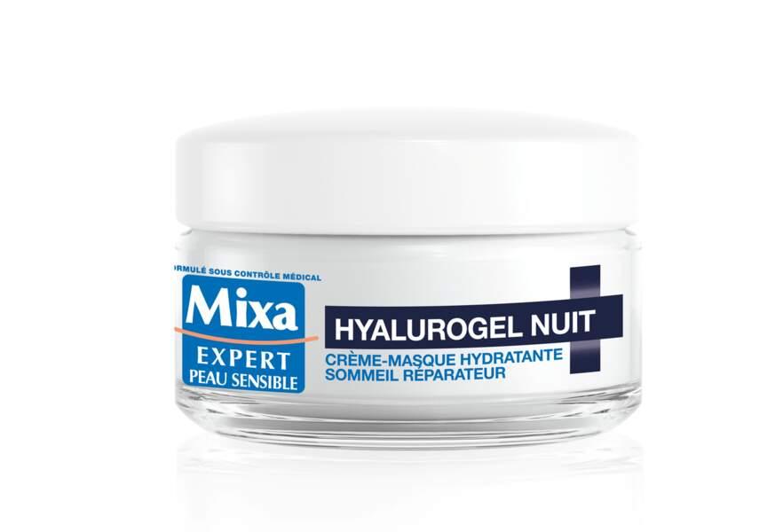 Le masque hydratant Hyalurogel Nuit Mixa