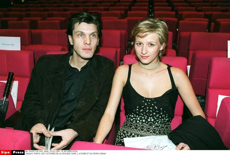 Marc Lavoine et Sarah Poniatowski, 1997