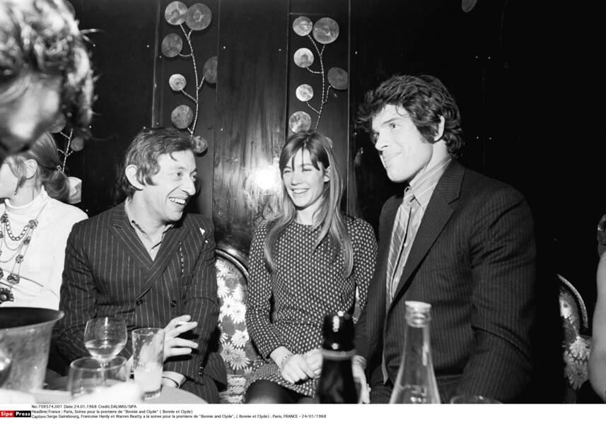 Serge Gainsbourg, Francoise Hardy et Warren Beatty