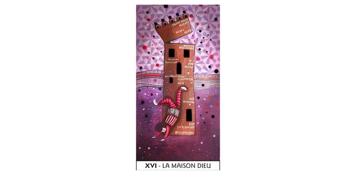 Lame 16 du Tarot des Mages : La Maison Dieu