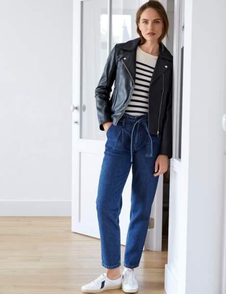 Pantalon : façon denim