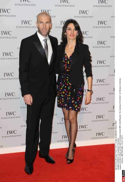 Zinédine Zidane et sa femme Véronique : 2011
