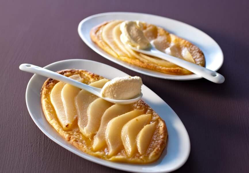 La tartelette poires et beurre d'amandes