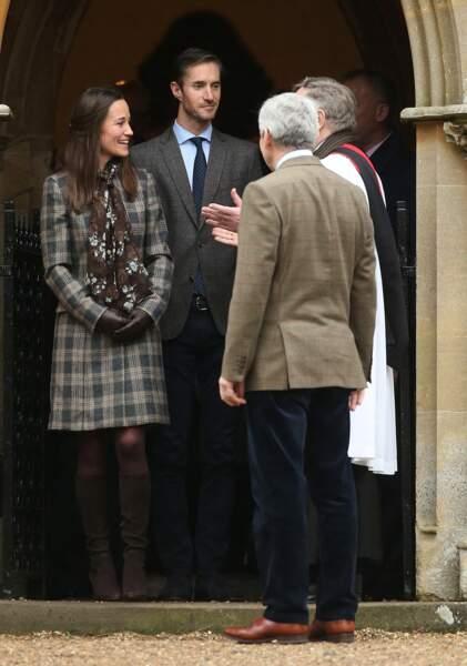 Pippa Middleton et son fiancé James Matthews étaient également présents