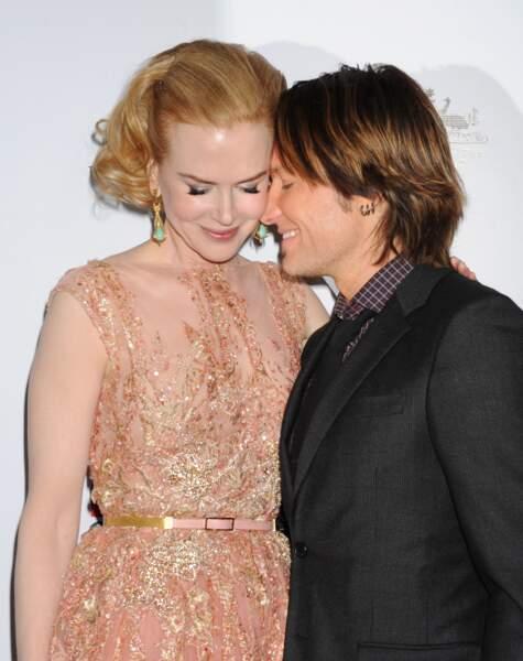 Nicole Kidman et Keith Urban lors d'une soirée à Los Angeles le 12 janvier 2013.