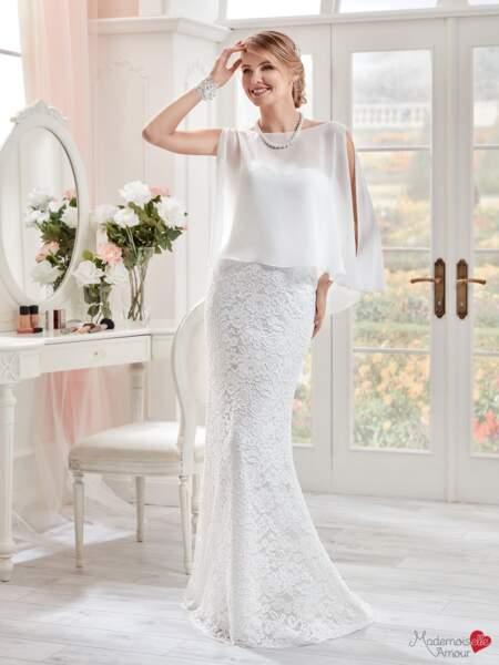 Mariage en hiver : Robe de mariée Mlle Dentelle par Mademoiselle Amour