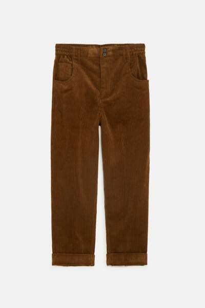 Le pantalon en velours