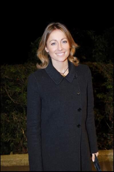 """Anne-Sophie Lapix à la soirée """"Sidaction"""" au Pavillon d'Armenonville en 2006."""