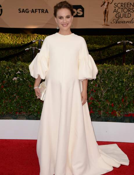 Natalie Portman : robe crème