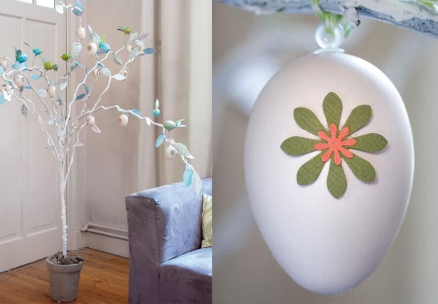 Un arbre à oeufs pour Pâques