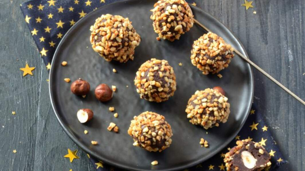 Truffes chocolat noisettes