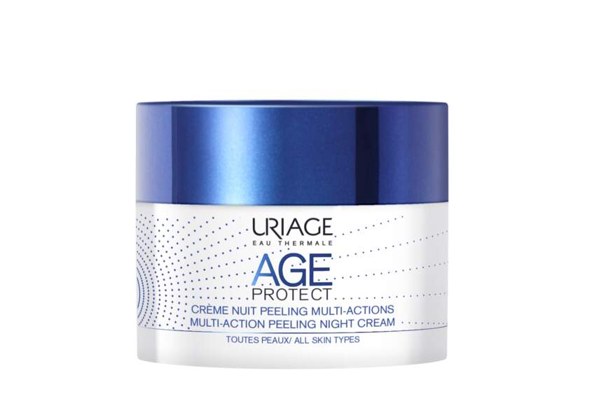 Crème nuit peeling multi-actions Age Protect Uriage