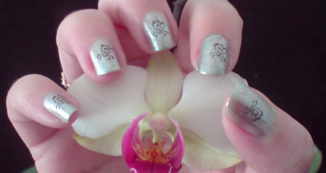 1ère place pour le nail art inspiration orchidée