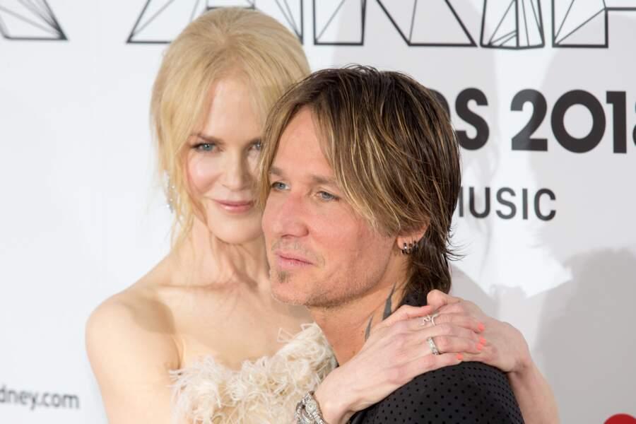 Nicole Kidman et Keith Urban assistent à l'ARIA Awards à Sidney le 28 novembre 2018.