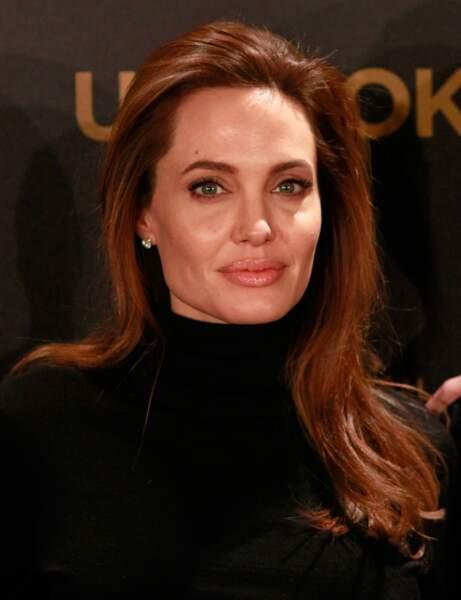 Visage rectangulaire : le dégradé tout doux d'Angelina Jolie