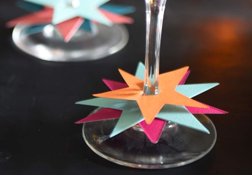 Des marques-verres en étoiles