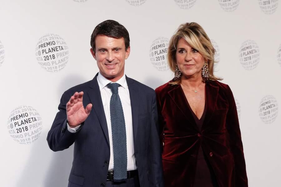 Manuel Valls et Susanna Gallardo à la soirée Los Premios Planeta 2018 awards à Barcelone, le 15 octobre 2018