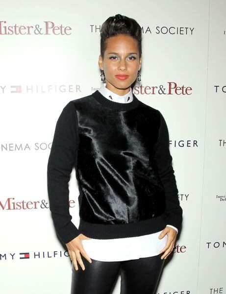 La coupe pixie d'Alicia Keys