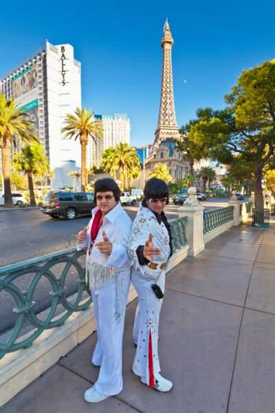 Les imitateurs d'Elvis sur le Strip.