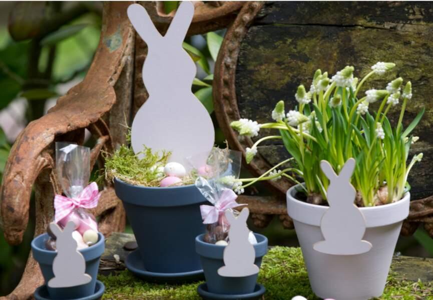 Des lapins pour décorer mon jardin
