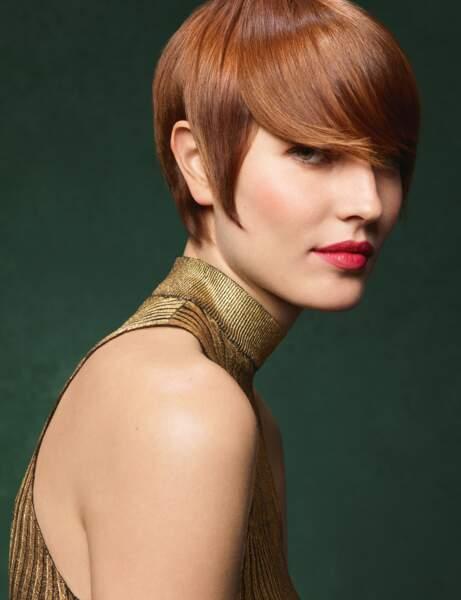 Les cheveux roux subtil