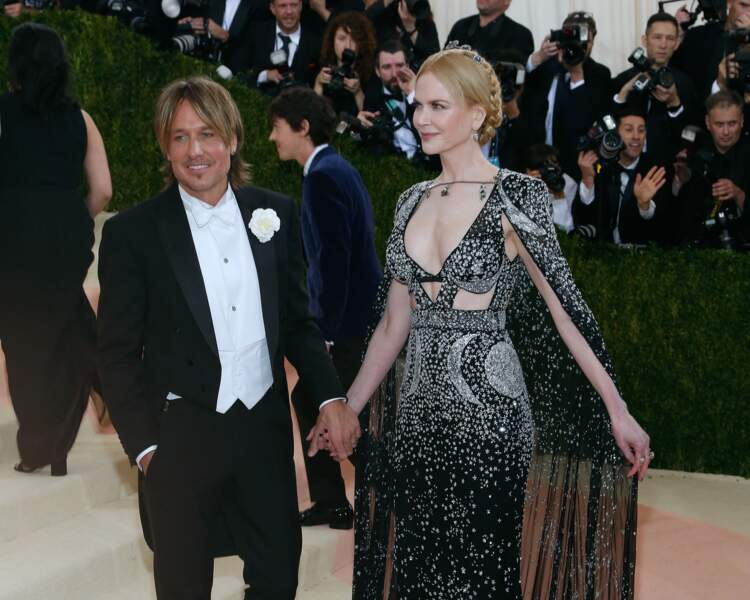 Nicole Kidman et Keith Urban à la soirée de gala du Costume Institute à New York le 2 mai 2016.