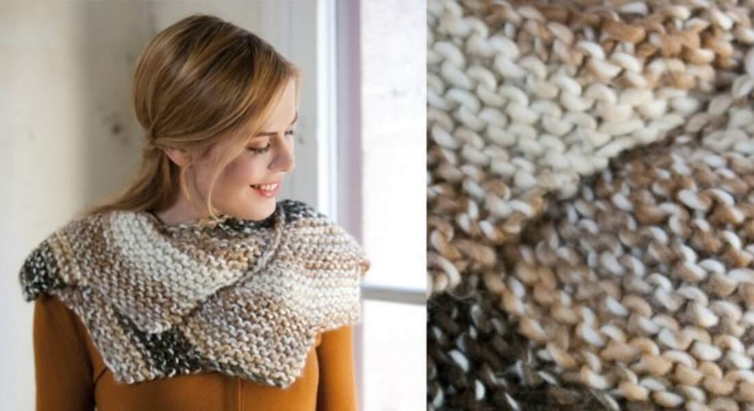 Le snood au tricot et crochet