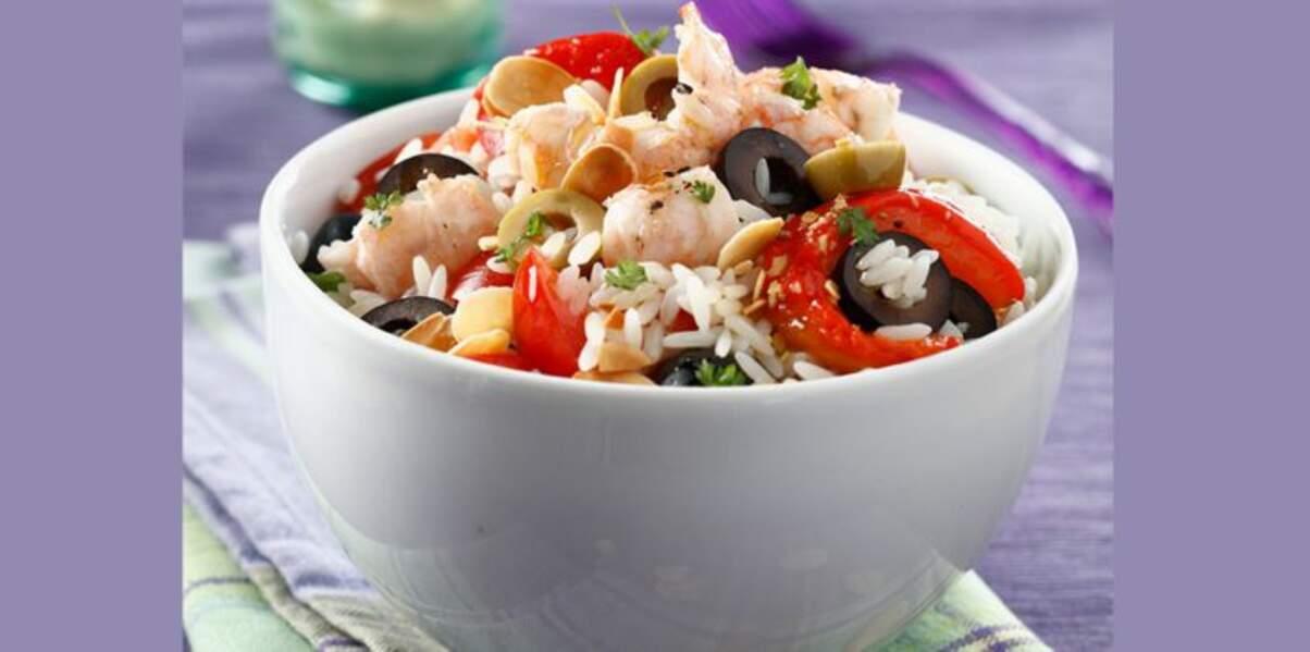 Salade de riz camarguaise