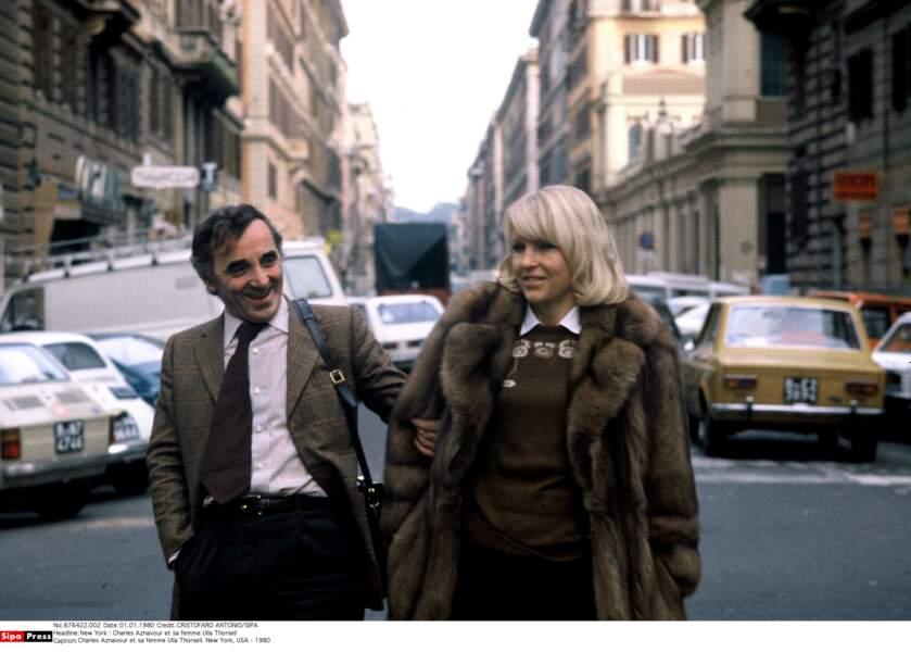 Charles Aznavour et sa femme Ulla Thorsell