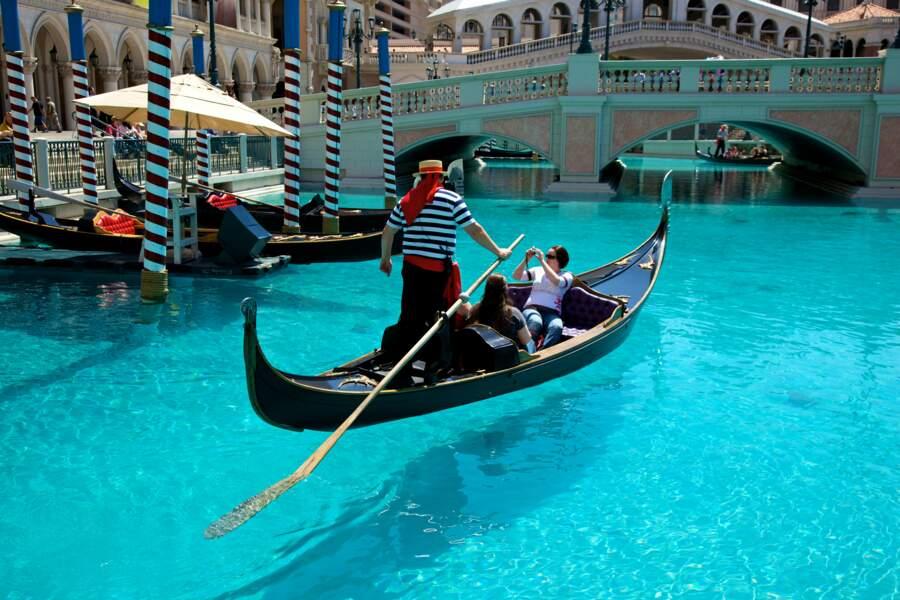 Gondole près du Vénitien Hotel
