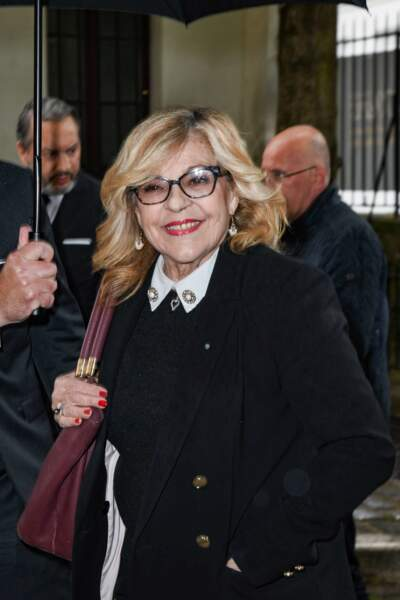Nicoletta aux obsèques de Dick Rivers en l'église Saint-Pierre de Montmartre, à Paris, le 2 mai 2019.