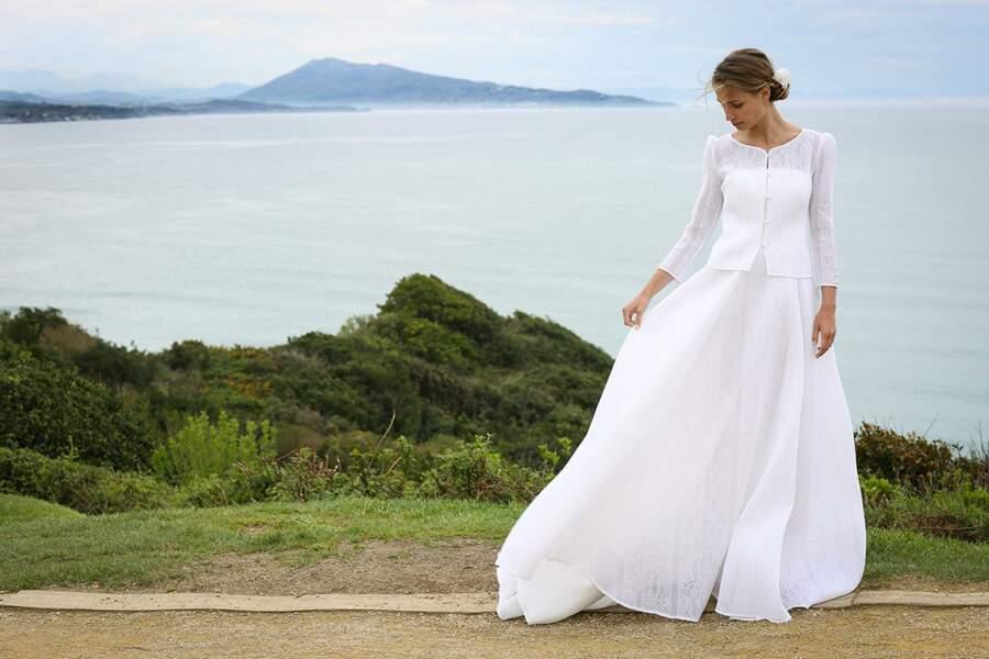 Mariage en hiver : Robe de mariée Berty par Marie Laporte
