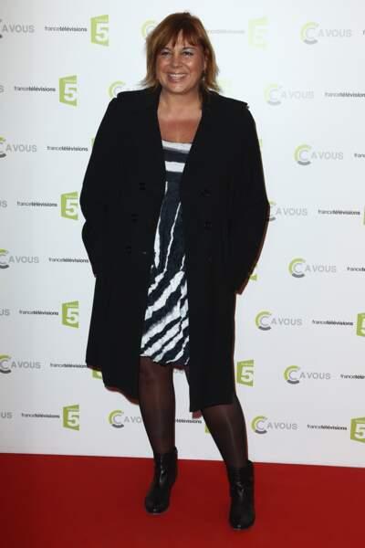 Michèle Bernier à la soirée de la 500ème de l'émission C à vous en 2012.