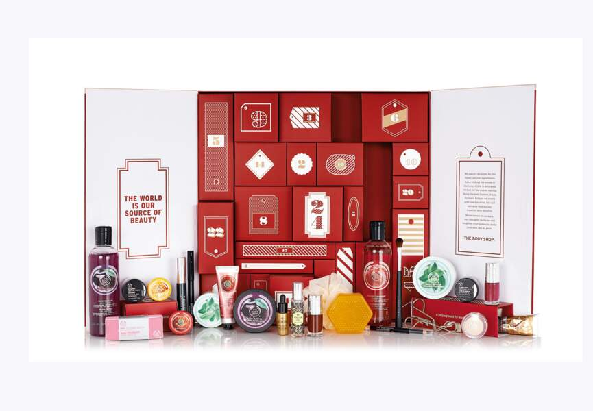 125 € : le calendrier ultra-complet The Body Shop