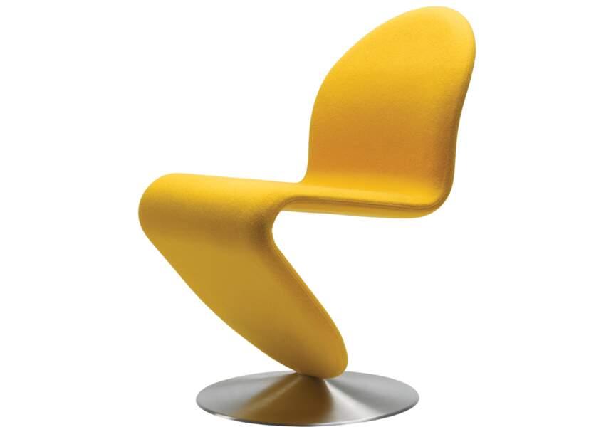 Chaise en tissu laine