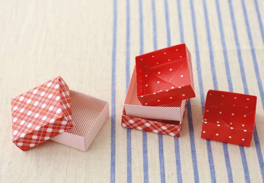 Une boîte en origami