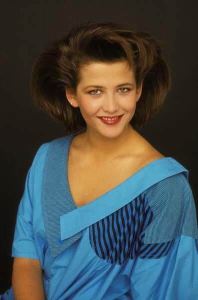 Sophie Marceau lors d'une séance photo en 1985.